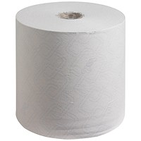 Scott 6620 Control Hand Towel Rolls, 1-Ply, White, Pack of 6