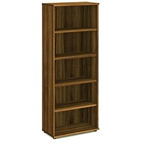 Trexus Tall Bookcase, 4 Shelves, 2000mm High, Walnut