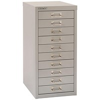 Bisley SoHo 10 drawer Cabinet - Grey