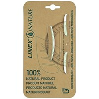 Linex Nature Protractor, 180 Degree, Biodegradable with Reverse Graduation, Clear