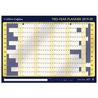 Collins 2019/20 Mid Year Planner, Unmounted, 840x594mm
