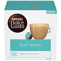 Nescafe Flat White Capsules for Dolce Gusto Machine - Pack 48
