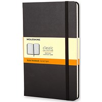 Moleskine Notebook, Hard Cover, A5, Ruled, 240 Pages, Black