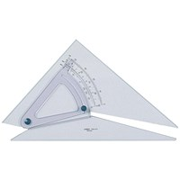Linex Set Square, 250mm, Clear