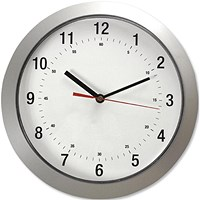 5 Star Wall Clock with Coloured Case Diameter 300mm Silver