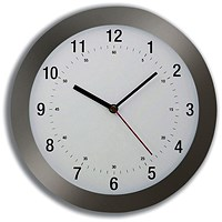 5 Star Wall Clock Radio Controlled Diameter 300mm Grey