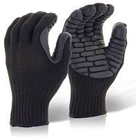 Glovezilla Anti-Vibration Glove, Large, Black