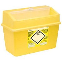 Click Medical Sharps Bin, Temporary & Final Closure Feature, 24 Litre, Yellow