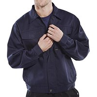 Click Heavyweight Drivers Jacket, 42 inch, Navy Blue