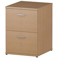 Trexus Foolscap Filing Cabinet, 2-Drawer, Oak