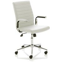 Trexus Ezra Leather Chair - White