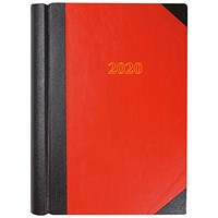 Collins 2020 Desk Diary, Day to a Page, A4, Red