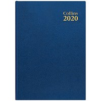 Collins 2020 Desk Diary, Week to View, A4, Blue