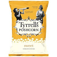Tyrells Sweet Popcorn, 90g, Pack of 12