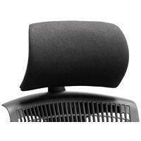Trexus Flex Chair Headrest - Black Shell Black Fabric