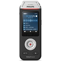 Philips DVT2110 VoiceTracer Recorder, Colour Display, 8GB, USB-C Connection, Black