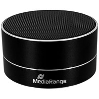 Media Range BlueTooth Portable Speaker, Range Up to 10 metres, Black