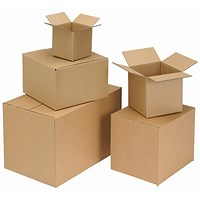 Single Wall Corrugated Box, 457x305x305mm, Brown, Pack of 25