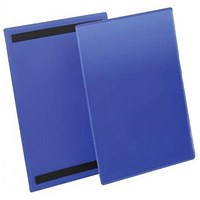 Durable Magnetic Document Sleeves, A4, Portrait, Blue, Pack of 50