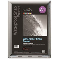 Waterproof Anti-glare Snapframe with Screw Kit, PVC, A1, Silver