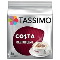 Tassimo Costa Cappuccino - Pack of 5