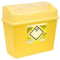 Click Medical Sharps Bin, Temporary & Final Closure Feature, 30 Litre, Yellow