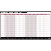 Sasco 2019 Annual Holiday Planner, Unmounted, 750x410mm