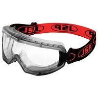 JSP EVO Goggles Standard Single Lens, Black & Red, Black & Red