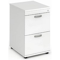 Trexus Foolscap Filing Cabinet, 2-Drawer, White