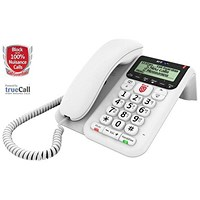 BT Decor 2600 Telephone Answering Machine with Nuisance Call Block Feature White Ref 83154