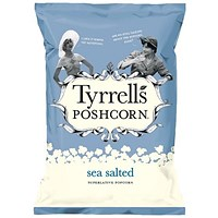 Tyrells Sea Salted Popcorn, 70g, Pack of 12