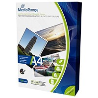 MediaRange A4 Matt InkJet Photo Paper, 130gsm, Pack of 100