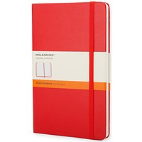 Moleskine Notebook, Hard Cover, A5, Ruled, 240 Pages, Scarlet Red
