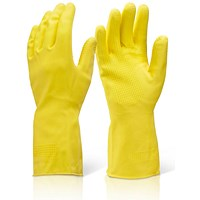 Click 2000 Household Gloves, Heavy Weight, Medium, Yellow, Pack of 10