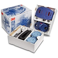 3M Ready To Use Starter Kit Air Respirator - Blue