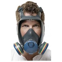 Moldex 9000 Full Face Mask, Lightweight, Peripheral Vision, Large, Grey