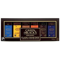 Green & Blacks Organic Chocolate Miniatures, Classic Collection, Assorted, Pack of 12