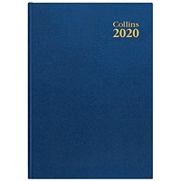 Collins 2020 Royal Desk Diary, Week to View, A5, Blue