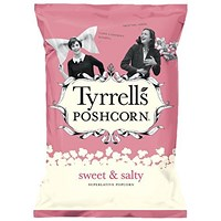 Tyrells Sweet & Salted Popcorn, 80g, Pack of 12
