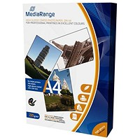 MediaRange A4 Glossy InkJet Photo Paper, 220gsm, Pack of 100