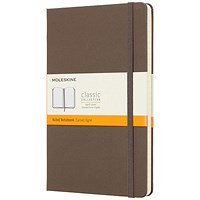 Moleskine Notebook, Hard Cover, A5, Ruled, 240 Pages, Earthbrown