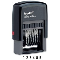 Trodat Printy 4846 Self-inking 6-digit Numberer Stamp