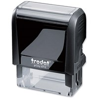 Trodat Printy VC/4912 Self-Inking Custom Stamp - 46x18mm (Up to 5 Lines of Text)