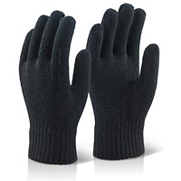 Click 2000 Acrylic Glove, One Size, Black, Pack of 10