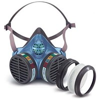 Moldex ABEK1P3 Half Mask with Replaceable Particulate Filters - Blue