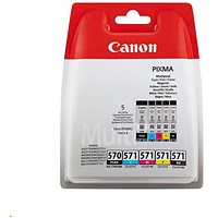Canon PGI-570/CLI-571 Inkjet Cartridge Pack - Cyan, Magenta, Yellow & Black x 2 (5 Cartridges)