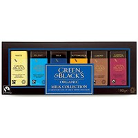 Green & Blacks Organic Chocolate Miniatures, Milk Collection, Assorted, Pack of 12