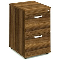 Trexus Foolscap Filing Cabinet, 2-Drawer, Walnut