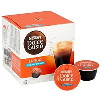 Nescafe Lungo Decaf Capsules for Dolce Gusto Machine - Pack of 48