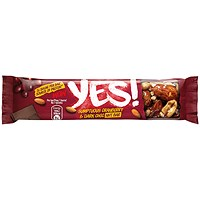 YES Cranberry & Dark Chocolate Nut Bar, 32g, Pack of 24